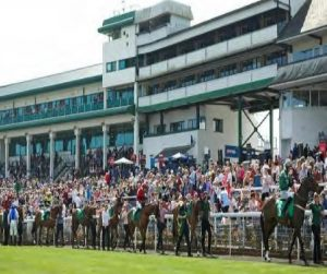 Chepstow Racecourse in South Wales—just another race day.