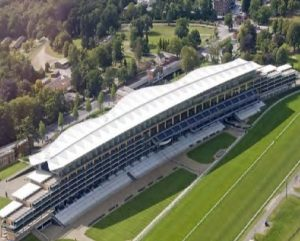 The Sales Area is upper right in this picture of Ascot's Grandstand.
