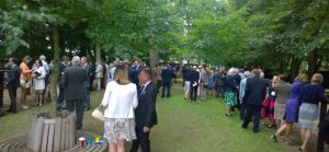 The industry gathers in surely the loveliest pre-parade ring at Newmarket.