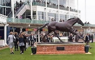 Persian Punch ,commemorated on course at Newmarket.