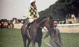Dahlia with Lester Piggott.
